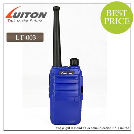 luiton LT-003 blue/black/orange color portable ham radio transceiver
