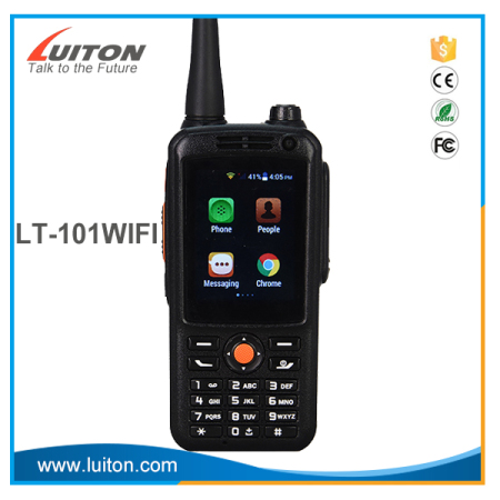 LUITON LT-101WIFI Android 4.4.2 GSM/WCDMA cell phone walkie talkie with sim card