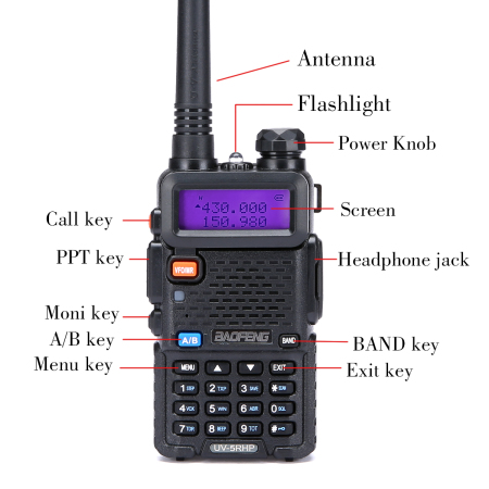 Baofeng UV-5RH High Power 8 Watt Dual Band Two-Way Radio