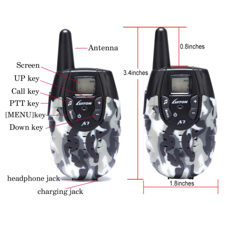 Luiton A7 Camo Walkie Talkies For Kids