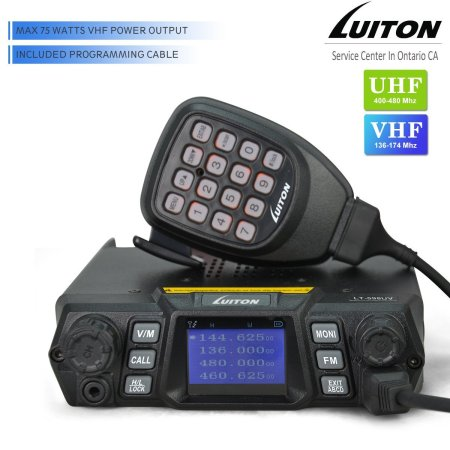 LT-598UV 75W VHF UHF High Power Dual Band Walkie Talkies Quad Standby Colorful Screen Compact Car Transceiver Two Way Radio