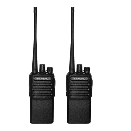 Walkie Talkies Voice Scrambler Rechargable (Micro USB) BaoFeng Series C2 Uhf Two Way Radio for Hiking Camping Compatible with BF-888s with 2 Air Acoustic Tube Headset Earpieces by LUITON