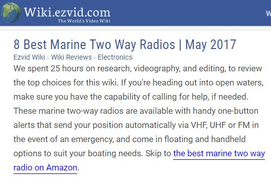 Luiton LT-898UV has recently been ranked at #7 in the 2017 wiki of the best marine two way radios.
